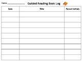 Guided Reading Book Log