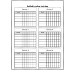 Guided Reading Book Log for Teachers