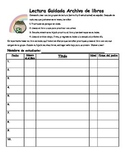 Guided Reading Book Log for students Bilingual Spanish-English