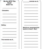 Guided Reading Book Mark - Personal Connections