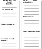 Guided Reading Book Mark - Visualizing