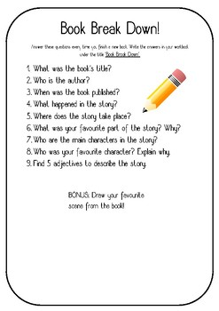 Guided Reading Book Report Activities Questions Grades 3 4 5