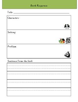 Guided Reading Book Response Worksheet