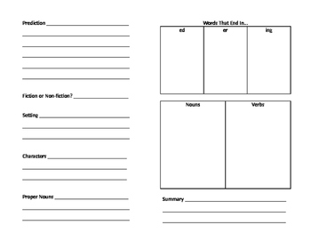 GUIDED READING - Booklet for Students to Complete during Guided Reading