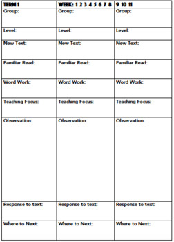 Guided Reading Booklet with Log, Assessments, Term Dividers, EDITABLE cover