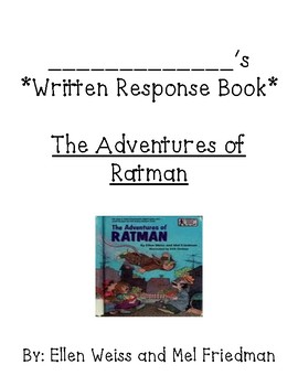 Guided Reading Bookletfor The Adventures of Ratman by Ellen Weiss