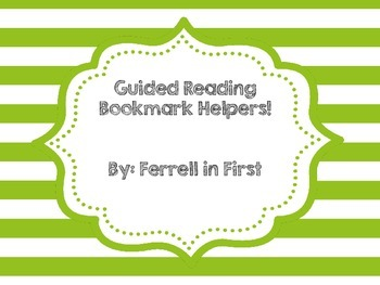Guided Reading Bookmark Helpers