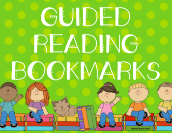 12 Guided Reading Bookmarks/ Worksheet!