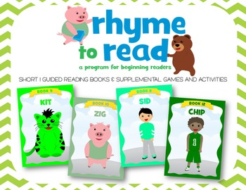 Guided Reading Books & Activities {Rhyme to Read Short I}