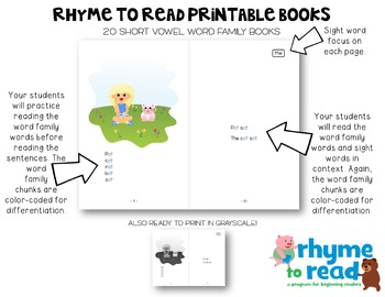 Guided Reading Books & Activities {Rhyme to Read Short O}