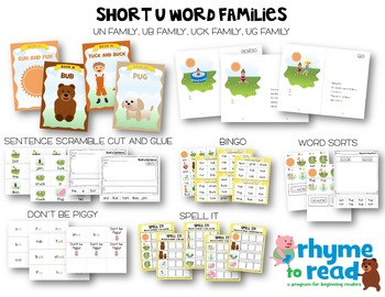 Guided Reading Books & Activities {Rhyme to Read Short U}