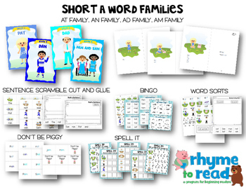 Guided Reading Books & Activities {Rhyme to Read Short Vowel Bundle}