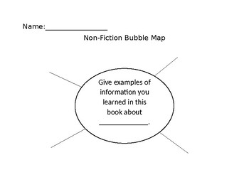 Guided Reading Bubble Map