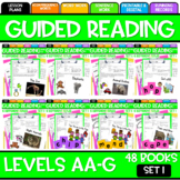 Guided Reading Bundle Leveled Readers AA-G