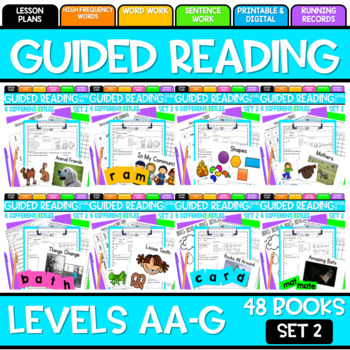 Guided Reading Bundle Leveled Readers AA-G Set Two