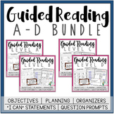 Guided Reading Lesson Plans Bundle: Levels A-D