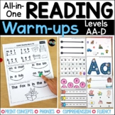 Guided Reading Bundle Levels AA-D
