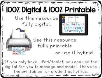 Kindergarten Guided Reading Activities & Lessons Bundle AA-D Digital & Printable