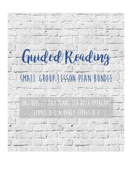 Guided Reading Bundle: Modified Jan Richardson Lesson for A-C & D-I