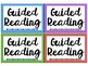 Guided Reading Caddie Labels
