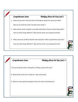 Guided Reading Cards