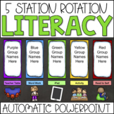 Guided Reading Center Rotation Chart Automatic PowerPoint (Custom Request)