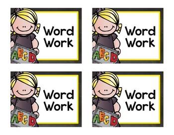 Guided Reading Centre Cards {Now Editable!}