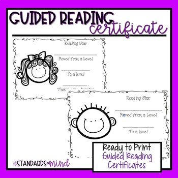 Guided Reading Certificates