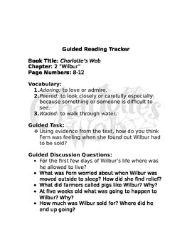 Guided Reading: Charlotte's Web