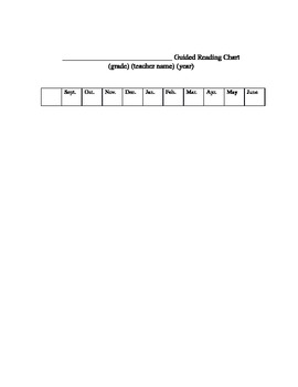 Guided Reading Chart