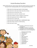 Guided Reading Checklist