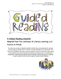 Guided Reading Checklist for Levels A-Z