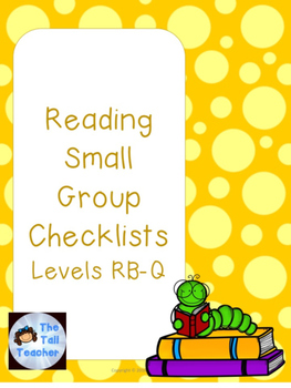 Guided Reading Checklists (Level RB-Q) with Comprehension