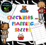 Guided Reading Checklists and Planning Sheets