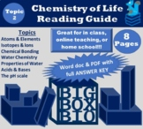 Guided Reading: Chemistry of Life, Atoms, Bonding, Water Properties, pH Scale