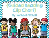 Guided Reading Clip Chart- Blue Chevron with green font