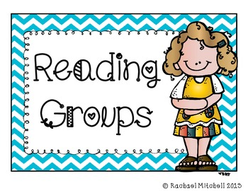 Guided Reading Clip Chart- Blue chevron with black font