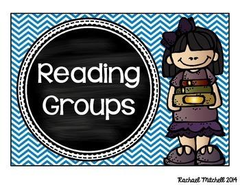 Guided Reading Clip Chart- Bright Chevron & Chalkboard