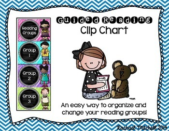 Guided Reading Clip Chart- Bright Chevron & Chalkboard