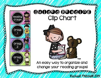 Guided Reading Clip Chart- Bright Colors & Chalkboard