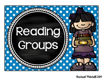 Guided Reading Clip Chart- Bright Polka Dots & Chalkboard