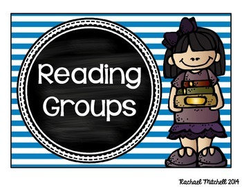 Guided Reading Clip Chart- Bright Stripes & Chalkboard