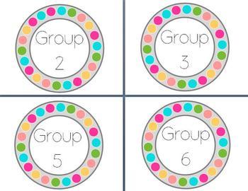 Guided Reading Clip Chart--3 Polka Dot Designs