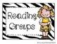 Guided Reading Clip Chart- Zebra Print