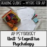 Guided Reading: Cognition Unit Myers' Psychology For AP