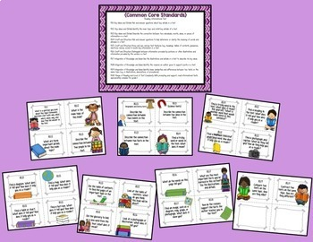Guided Reading Common Core Task Cards {1st Grade}