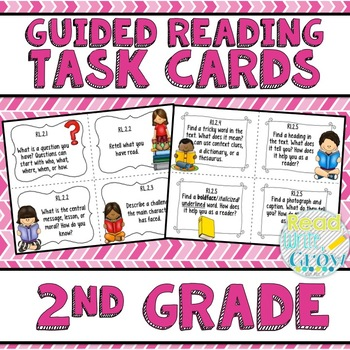 Guided Reading Common Core Task Cards {2nd Grade}