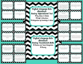 Guided Reading Common Core Task Cards {4th Grade}
