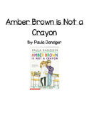 Guided Reading Comp. Questions -Amber Brown is Not a  Crayon by Paula Danziger