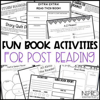 Reading Response Activities: Comprehension Pages & Book Activities!